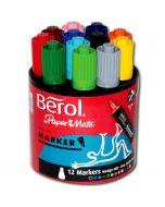 Berol Colour Marker in 12 leuchtenden Farben
