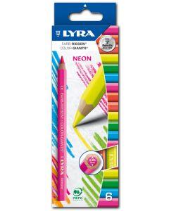 31106200 - Lyra Farbriesen NEON 6 Stück