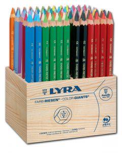 31107201 - Lyra Farbriesen 96er Aufsteller in 24 Farben - Ideal für den Maltisch!