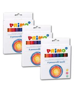 31476200 - Textil Filzstifte in Top-Qualität - 8 Farben sortiert