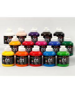 A-color Acrylfarbe 15 Fl. sort.