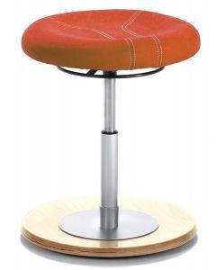 46146xxx - Standby Pendelhocker orange mit Holzoptik