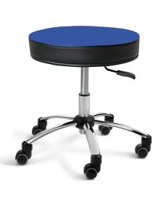 Sanus® Hocker 35-41 cm blau Kunstleder