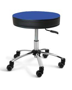 Sanus® Hocker 41-49 cm blau Kunstleder