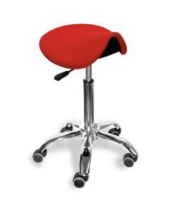 Sanus® Sattelsitz 55-75 cm rot Kunstleder