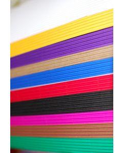 51107200 - Wellpappe Sortiment klein 10 Bogen in 10 Farben