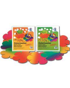 56232180 - Osternester aus Regenbogen-Fotokarton im 24er Set