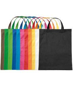 Baumwolltasche mit kurzen Henkeln farbig