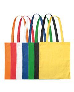Baumwolltasche mit langen Henkeln farbig