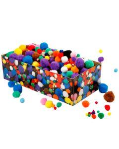 Kiga-Pack Pompoms im Karton