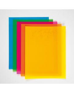 Schrumpffolie bunt A4 10 Blatt sort.
