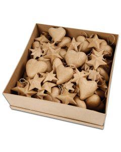 Weihnachtsanhänger aus Pappmaché - Set 2