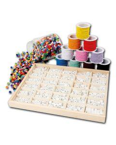 Mega-Set Buchstaben-Perlen mit Elastikfäden