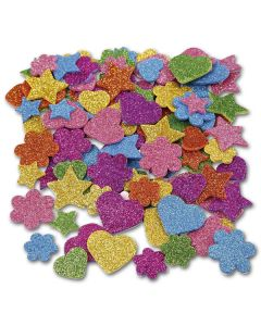 Moosgummi Glitter Sterne + Herzen 800 Kreise