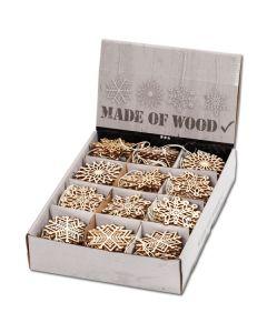 Weihnachtsschmuck aus Holz - Set 1