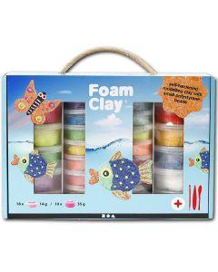 """Modelliermasse """"Foam Clay"""" Geschenk-Box (28 Dosen & Werkzeug)"""