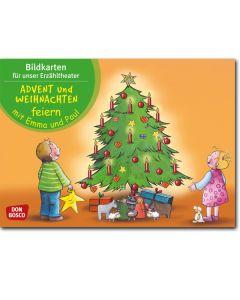 Advent und Weihnachten feiern mit Emma und Paul (Bildkarten für unser Erzähltheater)