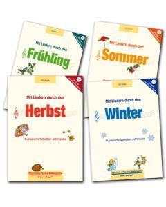 Super-Paket: Mit Liedern durch die Jahreszeiten (4 Bd. inkl. CD)