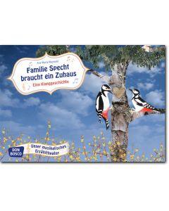 Bildkarten f. musikalisches Erzähltheater: Familie Specht braucht ein Zuhaus