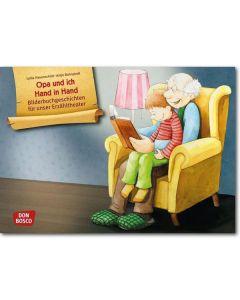 Opa und ich Hand in Hand (Bildkarten für unser Erzähltheater)