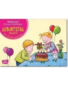 Geburtstag feiern mit Emma und Paul (Bildkarten für unser Erzähltheater)