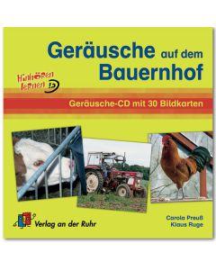 Geräusche auf dem Bauernhof (Geräusche-CD mit 30 Bildkarten)