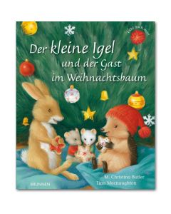 Der kleine Igel und der Gast im Weihnachtsbaum