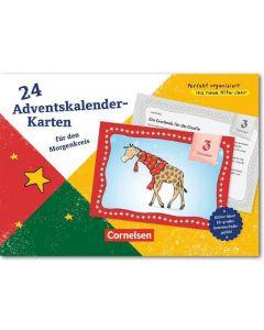 24 Adventskalender-Karten für den Morgenkreis