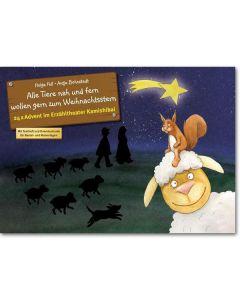 Alle Tiere nah und fern wollen gern zum Weihnachtsstern (Bildkarten für unser musikalisches Erzähltheater)