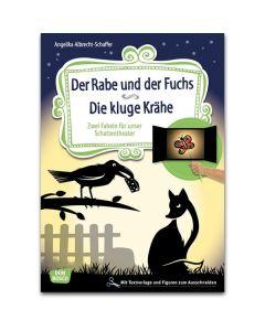 Geschichte für unser Schattentheater: Der Rabe und der Fuchs. Die kluge Krähe
