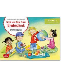 Betül und Nele feiern Erntedank (Bildkarten für unser Erzähltheater)