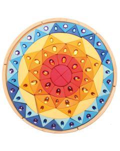 """Großes Glitzer-Mandala """"Sonne"""""""