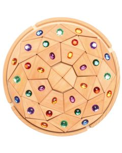 "Glitzer-Mandala ""Diamant"" natur"