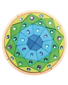 "Glitzer-Mandala ""Diamant"" blau-grün"
