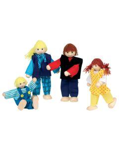Puppenhaus Junge Familie 4-teilig