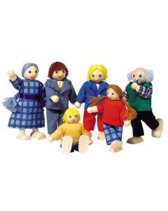 Puppenhaus City Familie 6-teilig