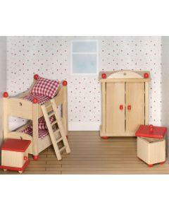 Puppenhaus Kinderzimmer 5-teilig