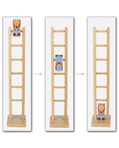 Klettermax auf der Leiter