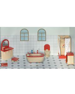 Puppenhaus Badezimmer 7-teilig