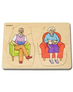 "Lagen-Puzzle ""Oma & Opa"""