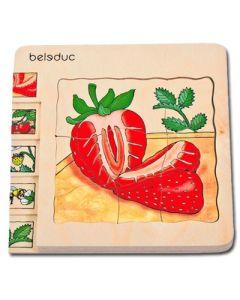 """Lagen-Puzzle """"Erdbeere"""""""