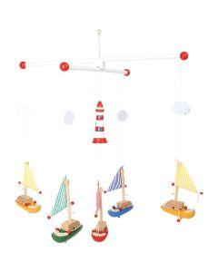 """Mobile """"Segelboote mit Leuchtturm"""""""