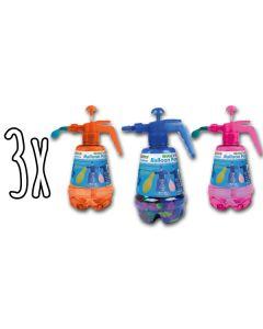 """3x Ballon Pumpe """"Wasser & Luft"""" mit 250 Ballons"""