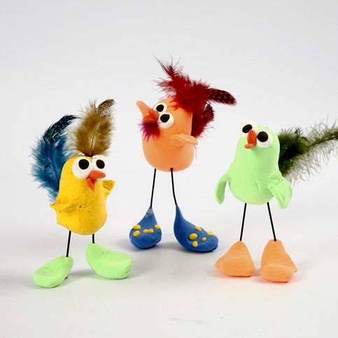 Vögel aus Silk Clay